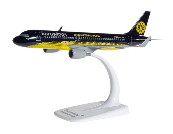 "Herpa Wings 611312 - Eurowings Airbus A320 ""BVB Mannschaftsairbus"" - 1:200 - Snap-Fit"