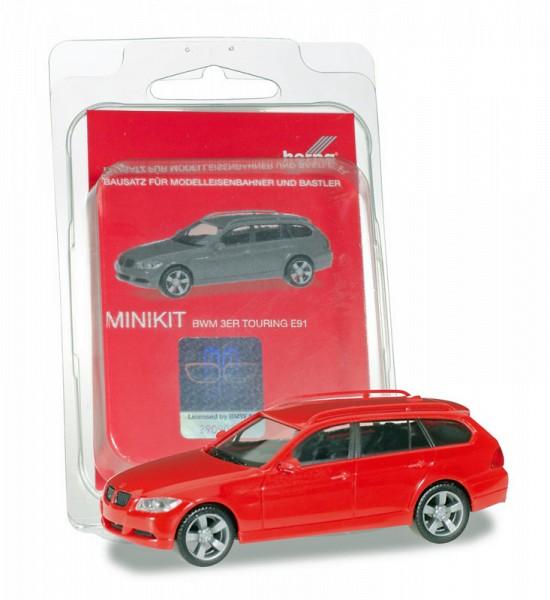 Herpa 012881 - Herpa MiniKit: BMW 3er Touring E91, rot - 1:87