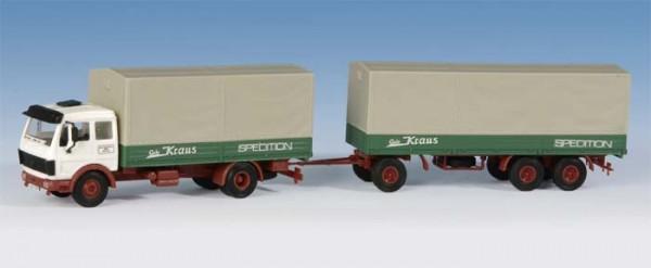 Kibri 14640 - MB 1632 2achs LKW mit 3achs Plannenhänger - H0