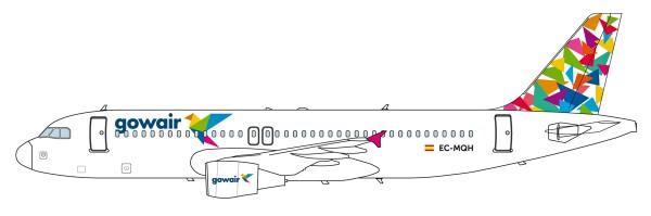 Herpa Wings 612135 - Gowair Airbus A320 - EC-MQH - 1:200 - Snap-Fit