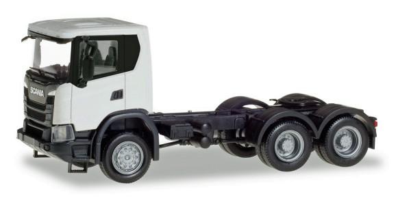 Herpa 309745 - Scania CG 17 6x6 Zugmaschine, weiß - 1:87