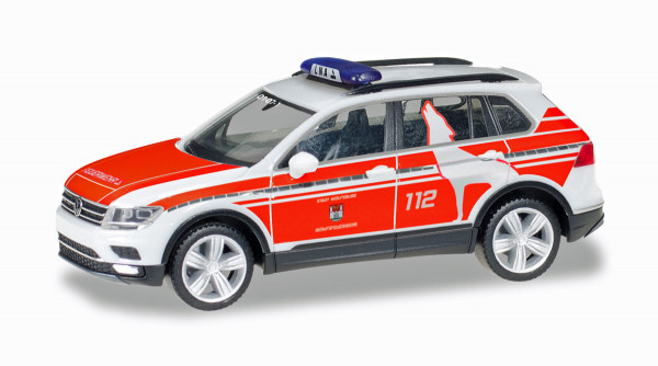 """Herpa 095273 - VW Tiguan Notarztfahrzeug """"Feuerwehr Wolfsburg"""" - 1:87"""
