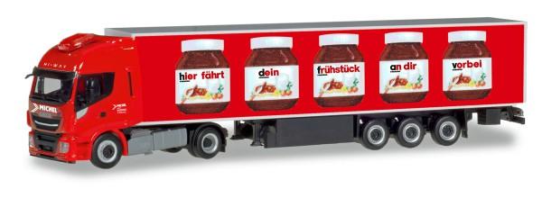 "Herpa 310031 - Iveco Stralis Hi-Way XP Kühlkoffer-Sattelzug ""Nutella / Spedition Michel"" (Bayern / W"