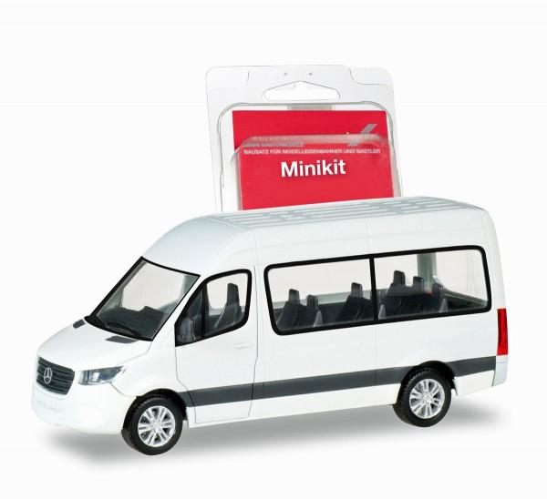 Herpa 013468 - Herpa MiniKit: Mercedes-Benz Sprinter Bus Hochdach, weiß - 1:87