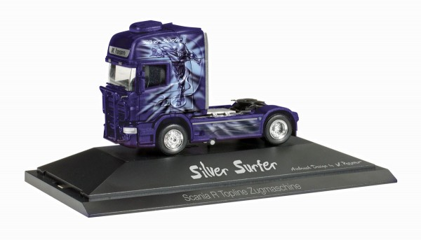 "herpa 110754 - Scania R Zugmaschine ""Silver Surfer / ML Transporte"" - 1:87"