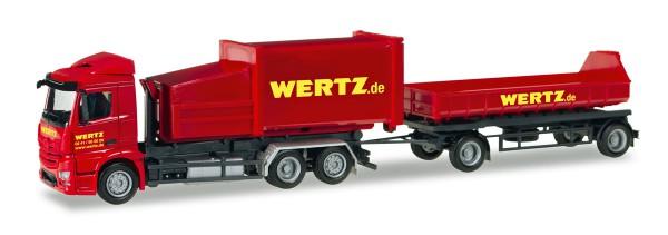 """Herpa 307437 - Mercedes-Benz Antos Pressmüllcontainer-Hängerzug """"Wertz Aachen"""" - 1:87"""