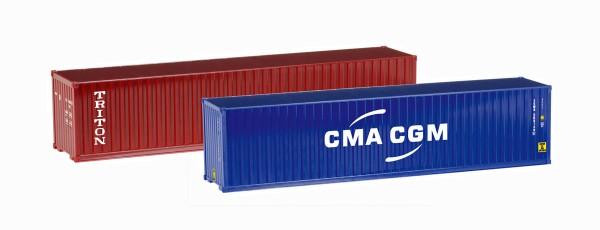 "Herpa 076449-004 - Container-Set 2x40 ft. ""Triton / CMA/CGM"" - 1:87"