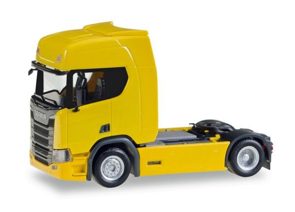 Herpa 307116 - Scania CR 20 HD Zugmaschine, gelb - 1:87