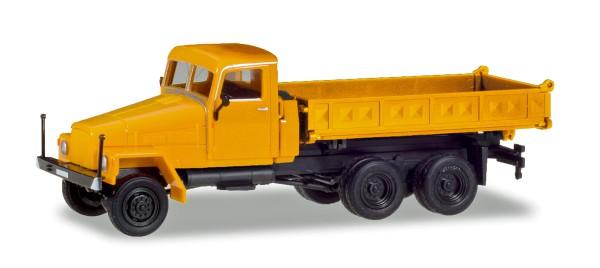 Herpa 308663 - IFA G5 Dreiseitenkipper, orange (Geänderte Kabine und neuer Aufbau) - 1:87
