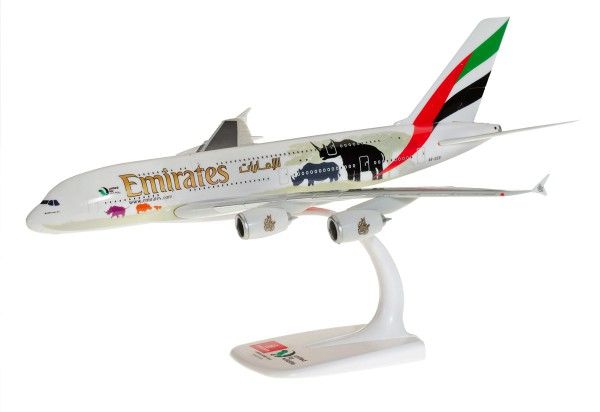 """Herpa Wings 612180 - Emirates Airbus A380 """"United for Wildlife"""" (No.2) - 1:250 - Snap-Fit"""