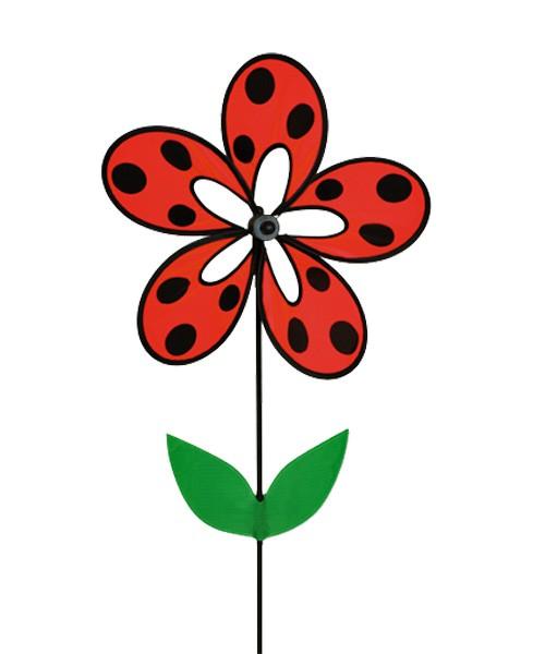 Colours in Motion - Windspiel Magic Flower Ladybird - Ø 38 x 93 cm