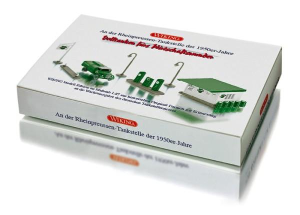 """Wiking 099077 - Set """"Historische Tankstelle"""" - H0"""