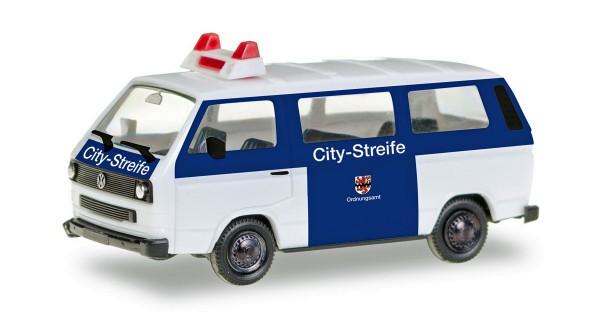 """Herpa 093101 - VW T3 Bus """"Citystreife Ordnungsamt Leverkusen"""" - 1:87"""