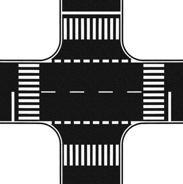 NOCH 60712 - Kreuzung, Asphalt, 22 x 22 cm - H0