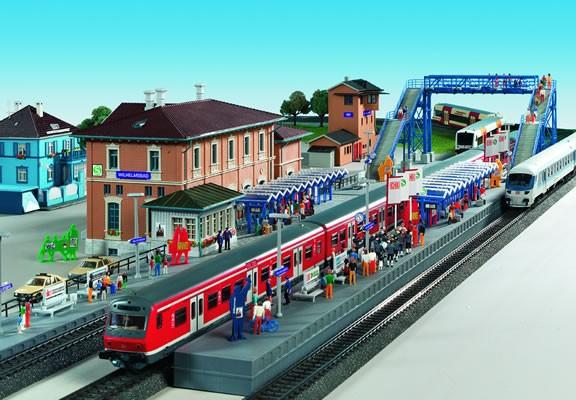 Kibri 9357 - S-Bahnstation Wilhelmsbad - H0 - AUSLAUFMODELL
