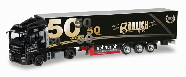 """Herpa 305389 - MAN TGX XLX Euro 6 Kühlkoffer-Sattelzug """"50 Jahre Spedition Röhlich"""" - 1:87"""