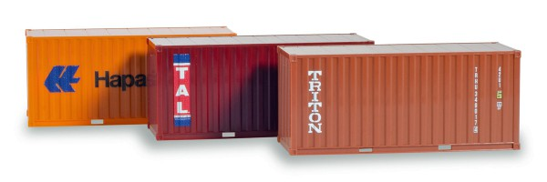 "Herpa 076432-003 - Container-Set 3x20 ft. ""Hapag Lloyd / TAL / Triton"" - 1:87"