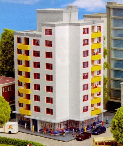 Kibri 37120 (7120) - Hochhaus mit Ladengeschäft - N