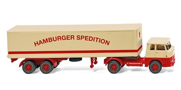"""Wiking 051319 - Koffersattelzug (Henschel HS 14/16) """"Hamburger Spedition"""" - 1:87"""