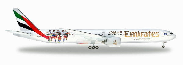"Herpa Wings 559034 - Emirates Boeing 777-300ER ""Hamburger SV"" - A6-EPS - 1:200"