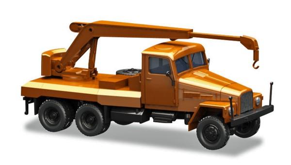 Herpa 308113 - IFA G5 Kranfahrzeug, orange - 1:87