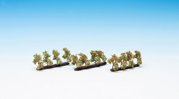 NOCH 21532 - Profi Plantagenbäume mit Äpfeln, 12 Stück, 3,5 cm hoch - H0 / TT