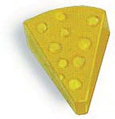 Käse aus Holz - 12 Stück (7043)