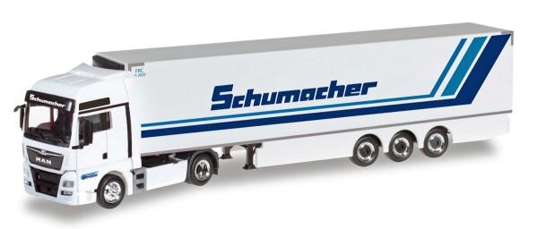 """Herpa 306263 - MAN TGX XXL Euro6 Kühlkoffer-Sattelzug """"Spedition Schumacher"""" - 1:87"""