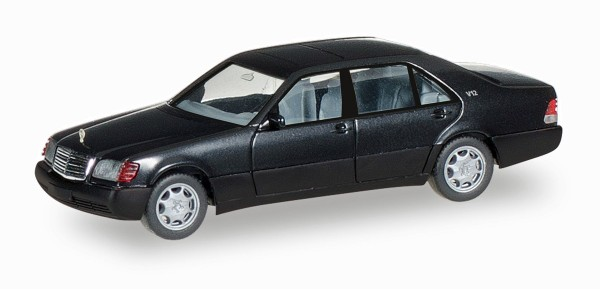 Herpa 028776 - Mercedes-Benz S-Klasse V12 (W140), schwarz - 1:87