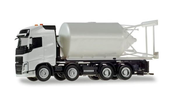 Herpa 013604 - Herpa Minikit: Volvo FH Gl. Silosteller-LKW 4-achs, weiß - 1:87