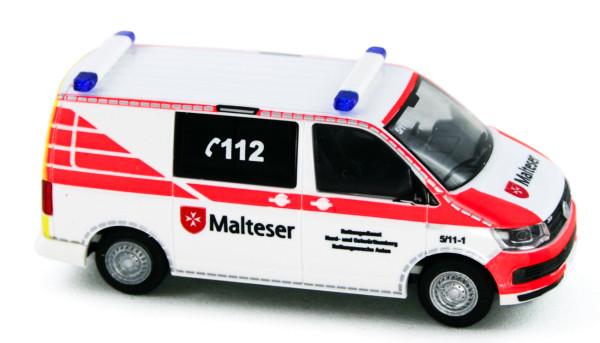 Rietze 53722 - Volkswagen T6 Malteser Aalen - 1:87