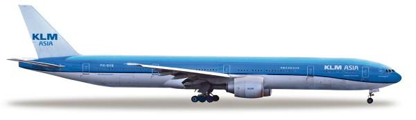 "Herpa Wings 531658 - KLM Asia Boeing 777-300ER ""Fulufjället National Park"" - PH-BVB - 1:500"