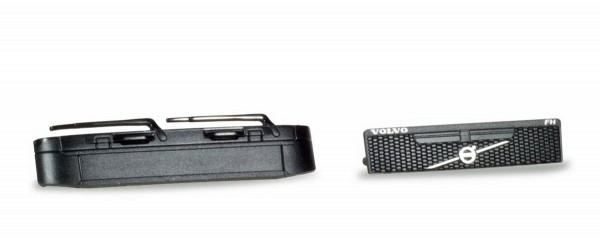 Herpa 053921 - Zubehör Blenden Volvo ohne Logo, Grill mit Logo, schwarz Inhalt: (4 Stück) - 1:87