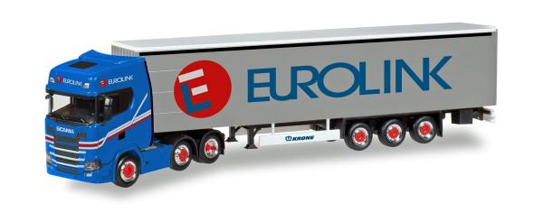 "Herpa 308526 - Scania CS HD 6x2 Gardinenplanen-Sattelzug ""Eurolink"" (S) - 1:87"