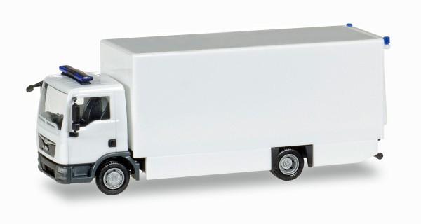 Herpa 013123 - Herpa MiniKit: MAN TGL Koffer-LKW, weiß / unbedruckt - 1:87