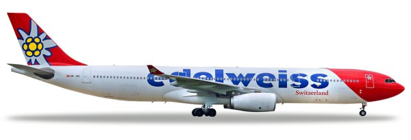 Herpa Wings 558129-001 - Edelweiss Air Airbus A330-300 - HB-JHQ - 1:200