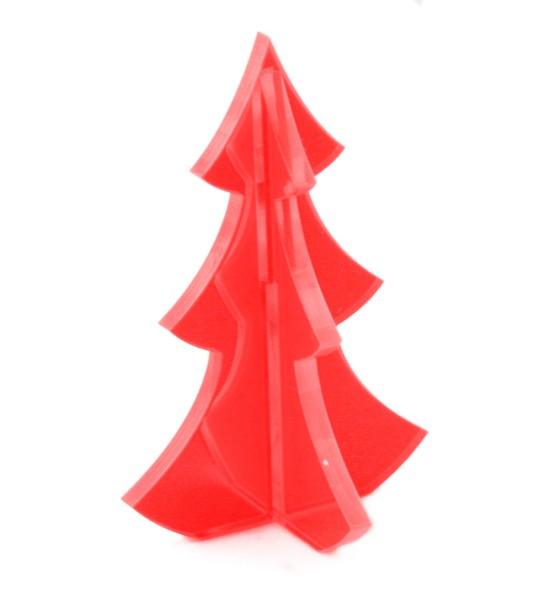 Lichtzauber 3D-Tannenbaum midi 6 cm, rot, stehend (Elliot 1020333)