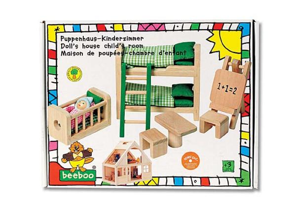 Beeboo 32308 - Puppenhaus-Kinderzimmer aus hochwertigem Holz