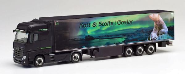 "Herpa 311762 - Mercedes-Benz Actros Bigspace Kühlkoffer-Sattelzug ""Kott & Stolte Goslar"" - 1:87"
