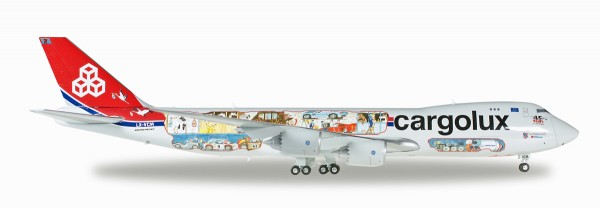 "Herpa Wings 558228 - Cargolux Boeing 747-8F - 45th Anniversary ""City of Redange-sur-Attert"" - 1:200"