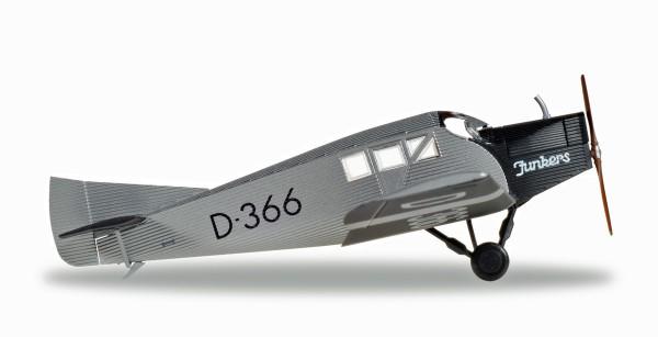 Herpa Wings 019378 - Junkers Luftverkehr, Deutsches Museum München Junkers F13 - D-366 - 1:87