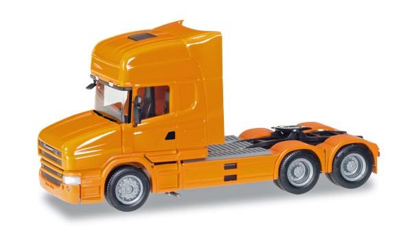 Herpa 151726-006 - Scania Hauber Topline Zugmaschine, orange - 1:87