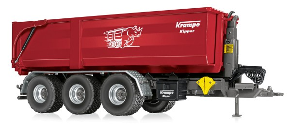 Wiking 077826 - Krampe Hakenlift THL 30 L mit Abrollcontainer Big Body 750 - 1:32