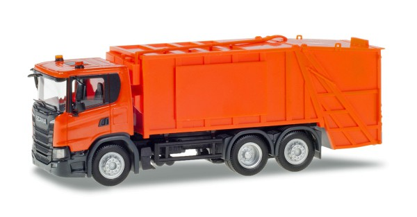 Herpa 309837 - Scania CG 17 Pressmüllwagen, orange - 1:87