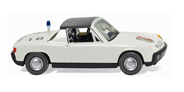 """Wiking 086437 - Polizei - VW Porsche 914 """"NRW"""" - 1:87"""
