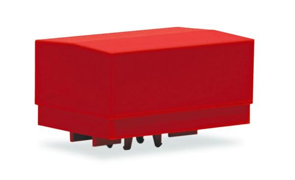 Herpa 053877-002 - Zubehör Ballastpritschen groß für Schwerlastzugmaschine, rot (2 Stück) - 1:87