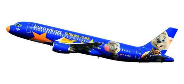 "Herpa Wings 611695 - Eurowings Airbus A320 ""Europa-Park""- D-ABDQ - 1:200 - Snap-Fit"