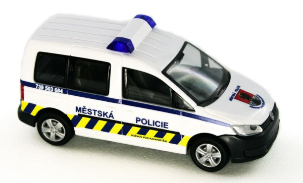 Rietze 52913 - Volkswagen Caddy Bus ´11 Mestska Policie (CZ) - 1:87
