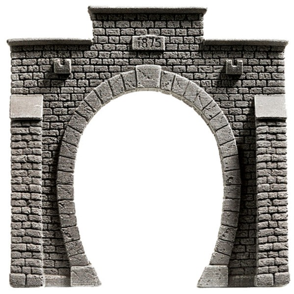 NOCH 58051 - Tunnel-Portal, 1-gleisig, 13,5 x 12,5 cm - H0