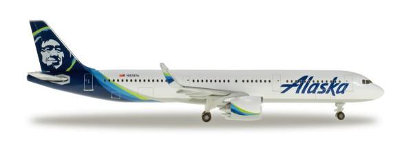 Herpa Wings 531894 - Alaska Airlines Airbus A321neo - N928VA - 1:500